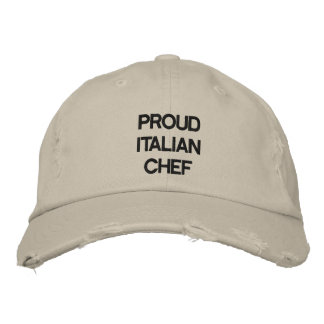 """""""PROUD ITALIAN CHEF"""" HAT EMBROIDERED HAT"""