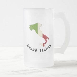 Proud Italian Frosted Beer Mug