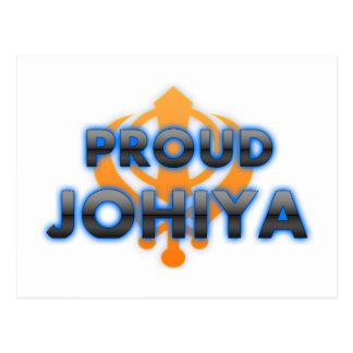 Proud Johiya, Johiya pride Postcard