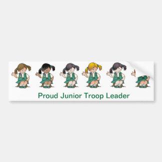 Proud Junior Troop Leader Bumper Sticker
