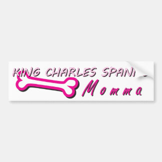 Proud King Charles Spaniel Momma Bone Bumper Sticker