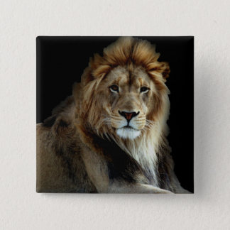 Proud King of the Animal Kingdom 15 Cm Square Badge