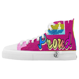 Proud Kinky Pan Collection Custom Zips High Tops Printed Shoes