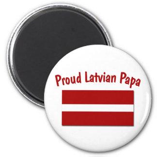 Proud Latvian Papa Magnets