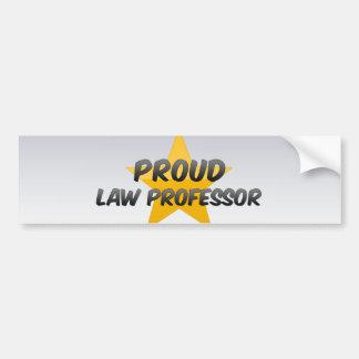 Proud Law Professor Bumper Stickers