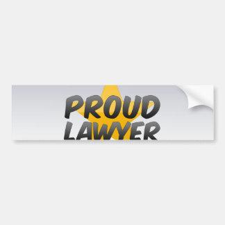 Proud Lawyer Bumper Sticker