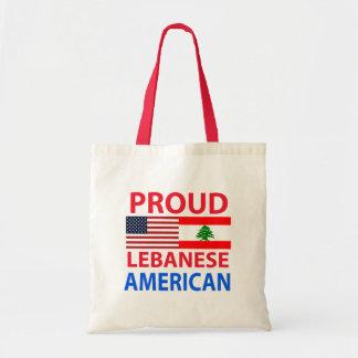 Proud Lebanese American Canvas Bag