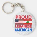 Proud Lebanese American Keychain