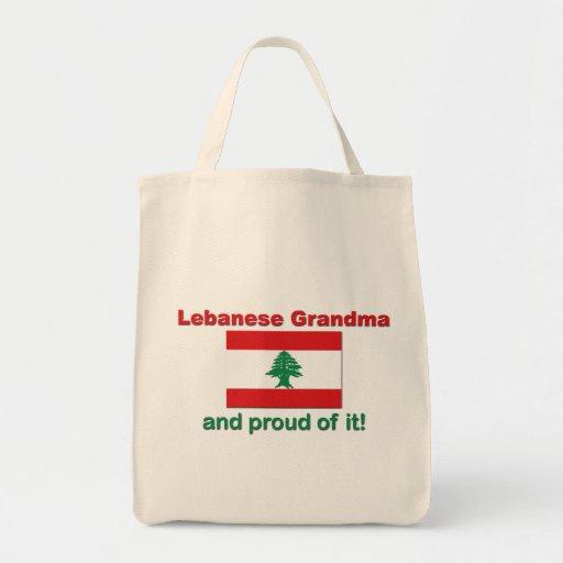 Proud Lebanese Grandma Canvas Bags
