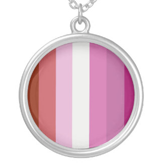 Proud Lesbian Round Pendant Necklace