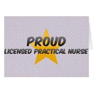 Proud Licensed Practical Nurse Greeting Card