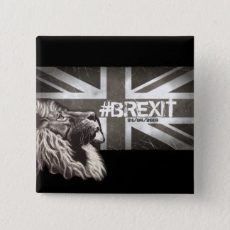 Proud Lion #Brexit Commemorative Art 15 Cm Square Badge
