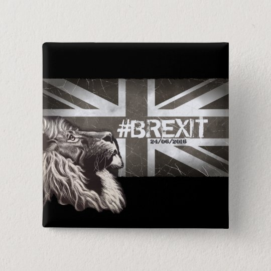 Proud Lion #Brexit Commemorative Art 15 Cm Square