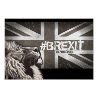 Proud Lion #Brexit Commemorative Art Poster