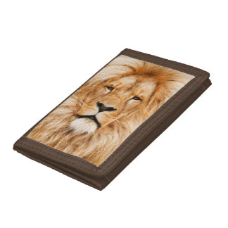 Proud Lion Portrait Tri-fold Wallet