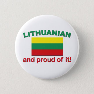Proud Lithuanian 6 Cm Round Badge