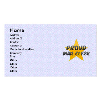 Proud Mail Clerk Business Card Template