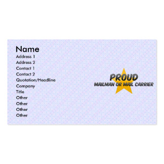 Proud Mailman Or Mail Carrier Business Cards