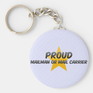 Proud Mailman Or Mail Carrier Keychains
