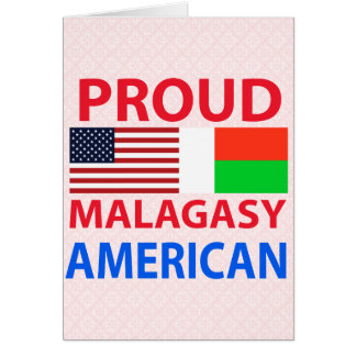 Proud Malagasy American Greeting Card