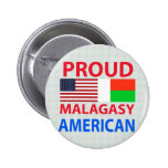 Proud Malagasy American Pinback Button