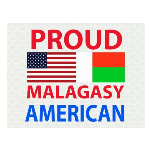Proud Malagasy American Postcard