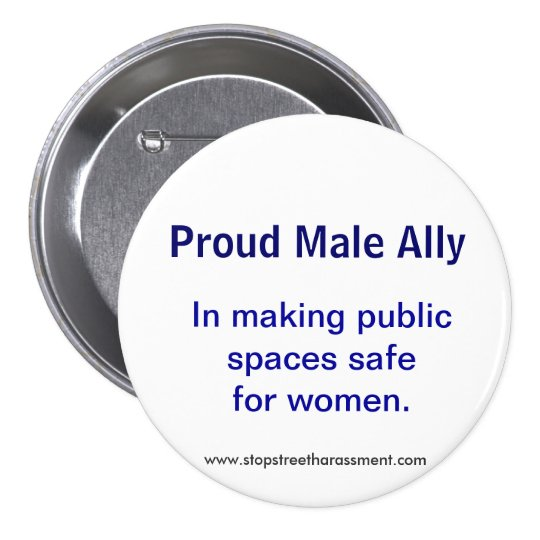 Proud Male Ally 7.5 Cm Round Badge