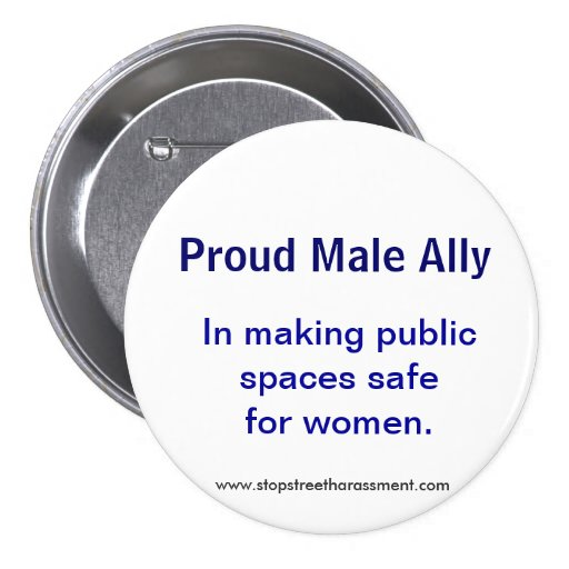 Proud Male Ally Button
