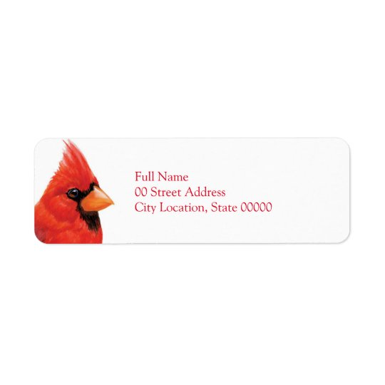 Proud Male Cardinal Return Address Label