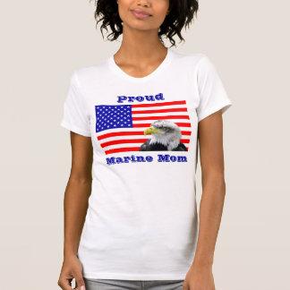 Proud Marine Mom Flag T Shirt