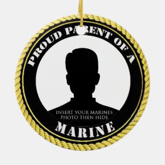 Proud Marine Parent Round Ceramic Decoration