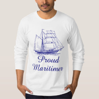 Proud Maritimer nautical sailing ship Nova Scotia T-Shirt