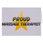 Proud Massage Therapist Greeting Cards