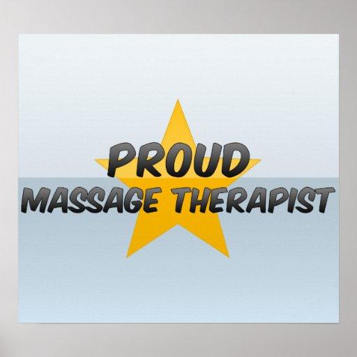 Proud Massage Therapist Print