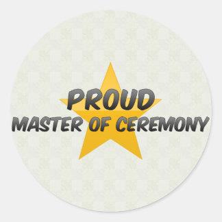 Proud Master Of Ceremony Round Sticker