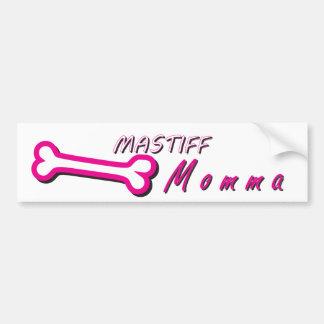 Proud Mastiff Momma Bone Bumper Sticker