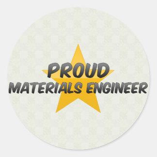 Proud Materials Engineer Stickers