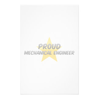 Proud Mechanical Engineer Stationery Paper