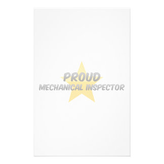Proud Mechanical Inspector Stationery