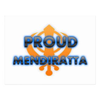 Proud Mendiratta, Mendiratta pride Postcard