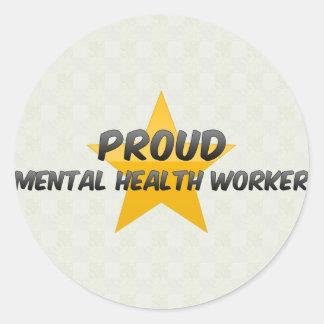Proud Mental Health Worker Stickers