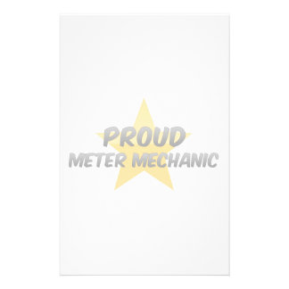 Proud Meter Mechanic Personalized Stationery