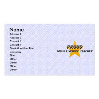 Proud Middle School Teacher Business Card Template