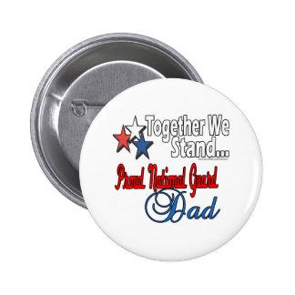 Proud Military Dad 6 Cm Round Badge