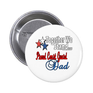 Proud Military Dad Button