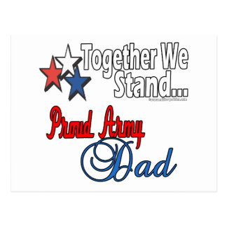 Proud Military Dad Postcard