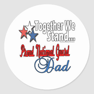 Proud Military Dad Round Stickers