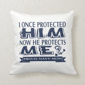 Proud Military Parent Navy Mom Cushion