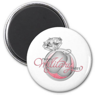 Proud Military Wife 6 Cm Round Magnet