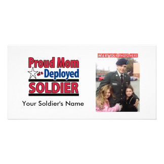 Proud Mom of a Deployed Soldier Photo Card Template